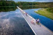 Inovasi Baru, Jalur Sepeda di Tengah Danau