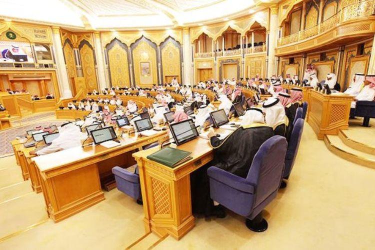 Gambar suasana sidang Majelis Syuro Arab Saudi.
