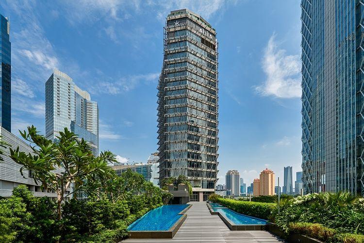 Bangunan Hotel Alila SCBD, Jakarta.