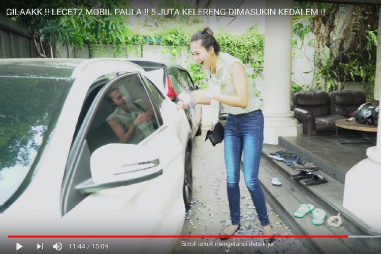 Cuplikan vlog di kanal YouTube Baim Wong dan Paula Verhoeven.