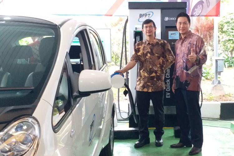 Mitsubishi sambut charging station BPPT