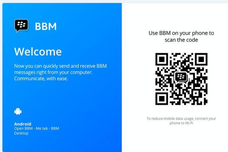 BBM versi Android di desktop