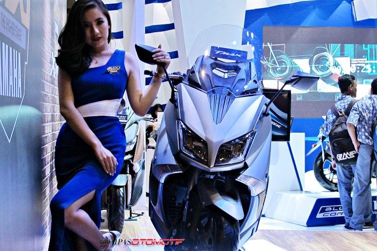 Yamaha TMAX di IIMS 2017 hanya jadi barang pameran.