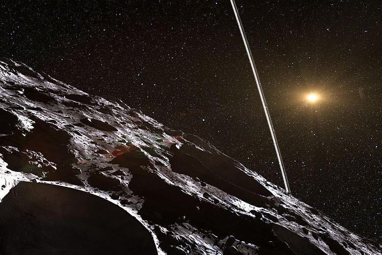 Ilustrasi asteroid Chariklo