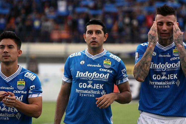 Pemain Persib Bandung, Esteban Vizcarra. (KOMPAS.com/SEPTIAN NUGRAHA)