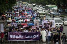 Perempuan Filipina Unjuk Rasa Menentang Perilaku Misoginis Duterte