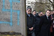 96 Nisan Makam Yahudi di Perancis Dinodai Simbol Swastika