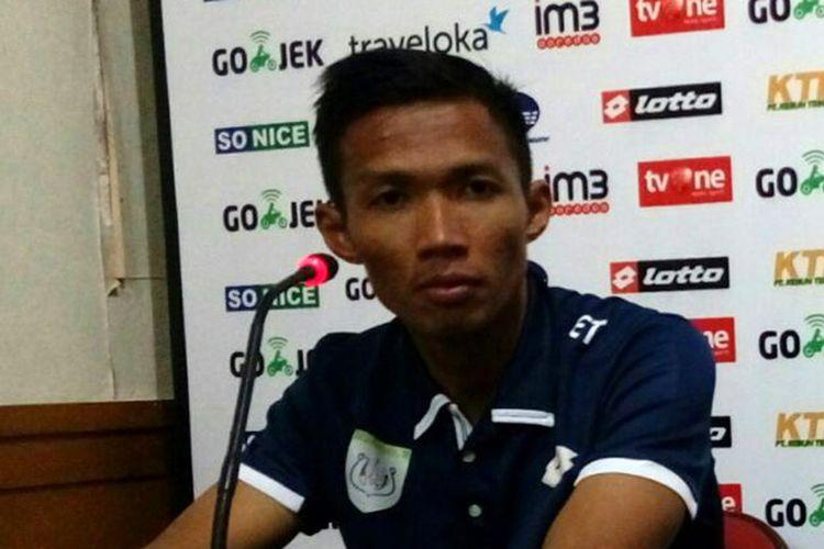 Pemain Persela Lamongan Eki Taufik selepas pertandingan kontra Bhayangkara FC, Senin (17/7/2017) lalu.