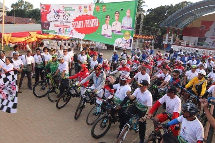 Pelepasan Tim Jelajah Gowes Nusantara 2019 di Sota serta kegiatan sepeda santai Gowes Nusantara 2019 etape Merauke milik Kemenpora masuk dalam trending topic Indonesia di Twitter, melalui hashtag #GowesNusantaraMerauke2019.