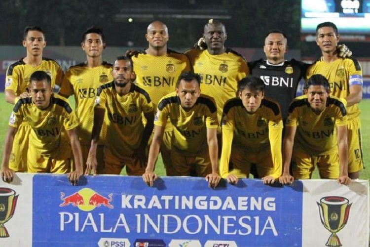 Skuat Bhayangkara FC kontra PSIS Semarang di Stadion PTIK, Jakarta, Selasa (19/2/2019).