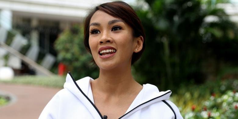 Pembawa acara Melanie Putria.
