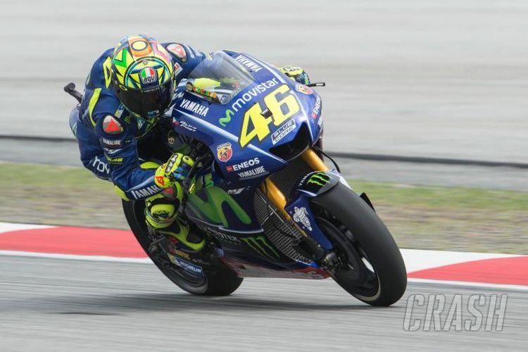Valentino Rossi di Sirkuit Sepang, Malaysia, Jumat (27/10/2017).