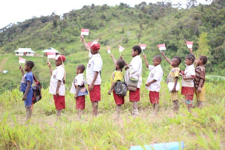 Anak-anak di Pegunungan Bintang, Papua.