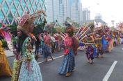 Antusias Lihat Pawai di Jakarnaval 2018, Warga Datang Sebelum Acara Dimulai