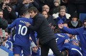 Jelang Lawan Barca, Hazard Beri Dukungan kepada Conte