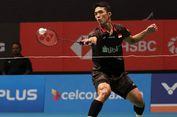 Malaysia Open 2018, Jonatan Christie Kalah Dramatis