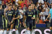 Valencia Vs Juventus, Ronaldo Marah Setelah Dapat Kartu Merah