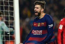 Luapan Kebahagiaan Gerard Pique Setelah Cetak Gol ke Gawang Espanyol