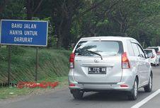 Bahu Jalan Tol Bukan Tempat yang Aman buat Berhenti