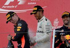 Sempat Berselisih, Verstappen dan Hamilton Bersalaman Jelang GP China