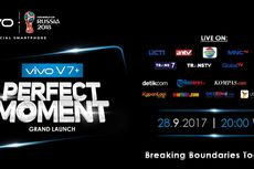 Peluncuran Vivo V7+ Disiarkan Langsung di 9 TV Nasional dan 9 Media Online