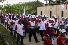 Pupuk Indonesia Adakan Jalan Sehat yang Paling Meriah di Pulau Sebatik