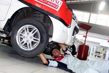 (Ilustrasi) Bengkel Daihatsu bodi repair