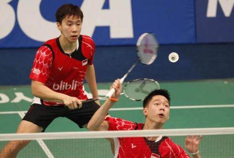 Hasil Piala Thomas, Marcus/Kevin Menang, Indonesia 1-1 Korea Selatan