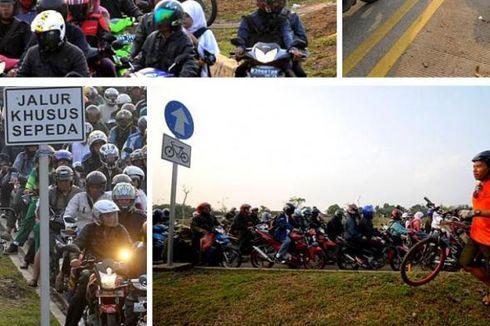 DKI Baru Punya 26 Km Jalur Sepeda