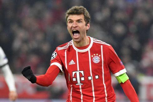 Dihukum UEFA, Mueller Lewatkan Laga Bayern Muenchen Vs Liverpool