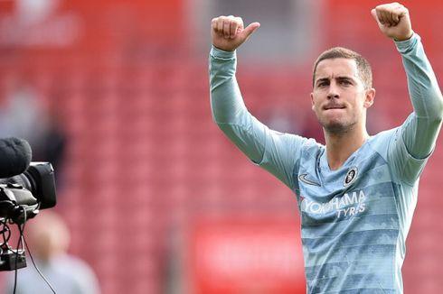 Roberto Martinez Sarankan Eden Hazard Bertahan di Chelsea