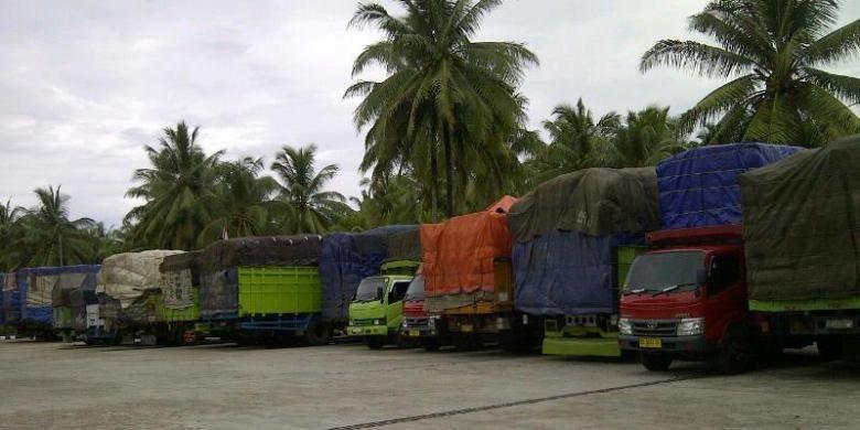 Ilustrasi truk barang