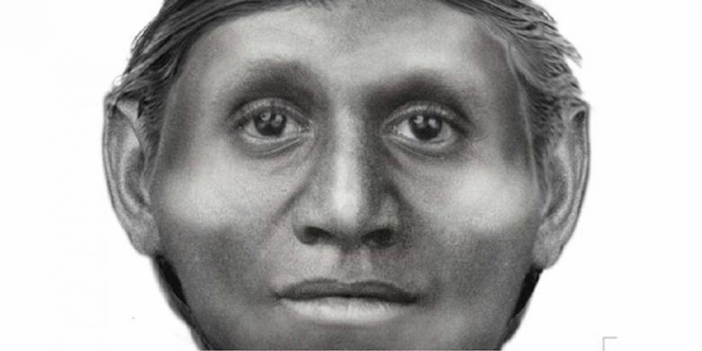 Rekosntruksi wajah manusia Flores atau The Hobbit.