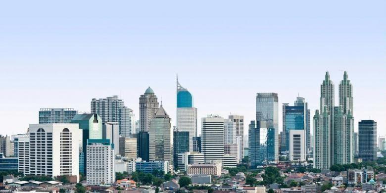 Cakrawala Jakarta yang sarat gedung pencakar langit.