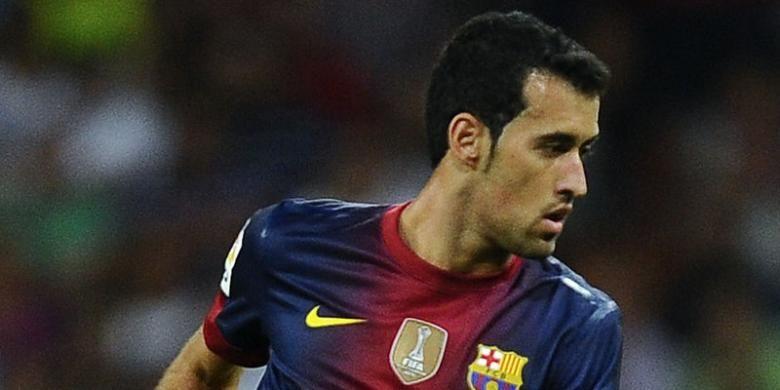 Gelandang Barcelona,Sergio Busquets .