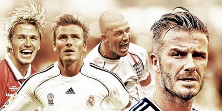 David Beckham dalam kariernya pernah bermain dengan Manchester United, Real Madrid, La Galaxy, dan PSG, sebelum menyatakan pensiun pada Kamis (15/5/2013).