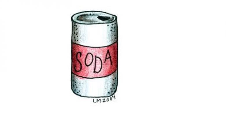 Ilustrasi minuman bersoda