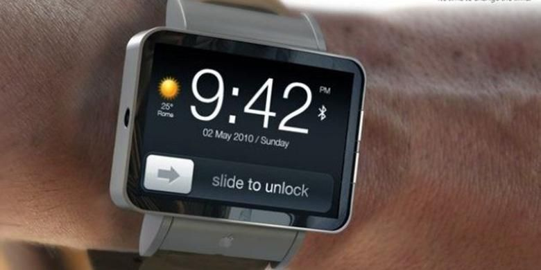 Ilustrasi jam tangan pintar Apple iWatch