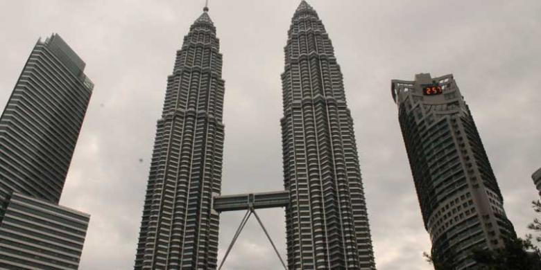 Menara kembar di Kuala Lumpur, Malaysia.