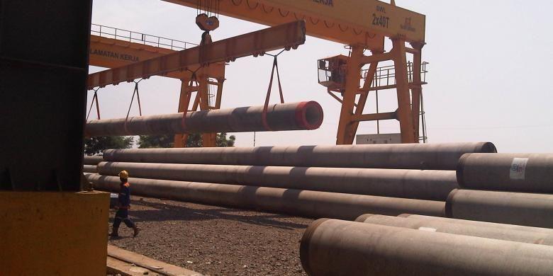 PT PP Dirganeka, secara resmi membuka pabrik precast (beton pracetak) di Bojonegara, Cilegon, Banten, Kamis (22/8/2013). Pabrik ini pertama kali dibangun pada 19 Desember 2012 hanya dalam waktu 3,5 bulan dan baru memproduksi tiang pancang pre cast (spun pile) pada 1 April 2013 lalu.