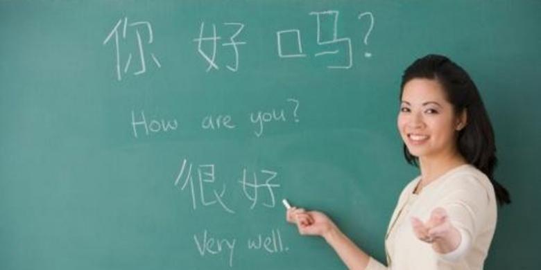 Ilustrasi belajar bahasa Mandarin.