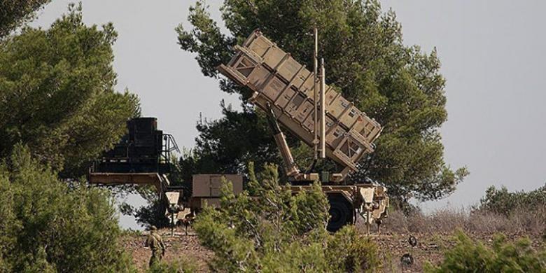 Sistem pertahanan rudal Patriot.