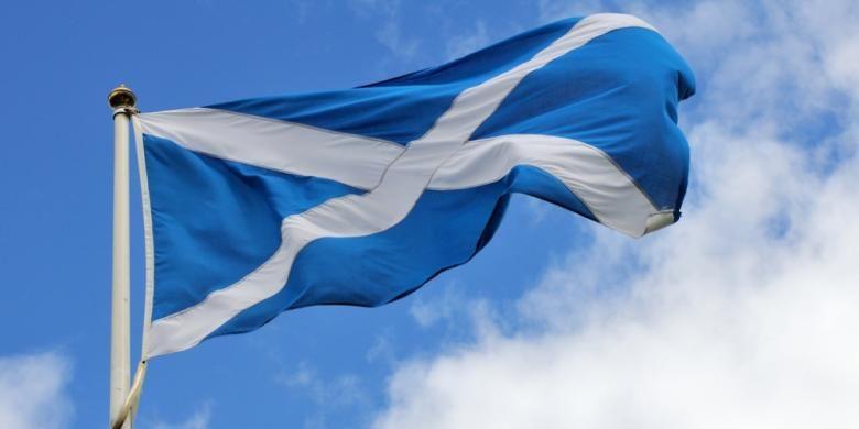 Bendera Skotlandia.