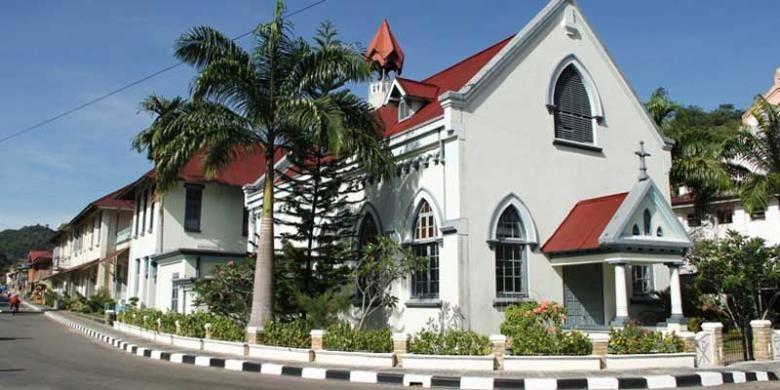 Gereja di Sawahlunto, Sumatera Barat, masih bergaya arsitektur zaman kolonial.