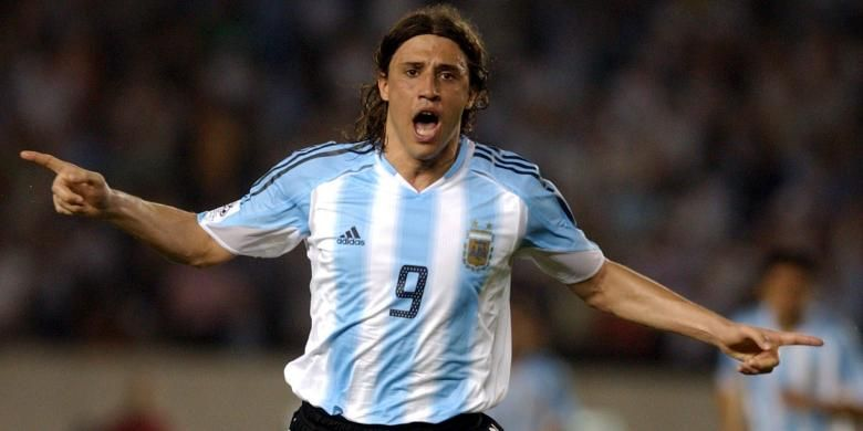Hernan Crespo, ketika masih aktif bermain dan memperkuat timnas Argentina.