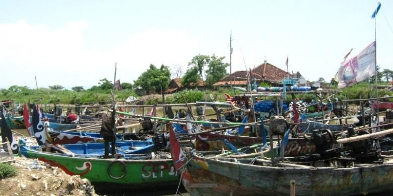 Ilustrasi perahu nelayan