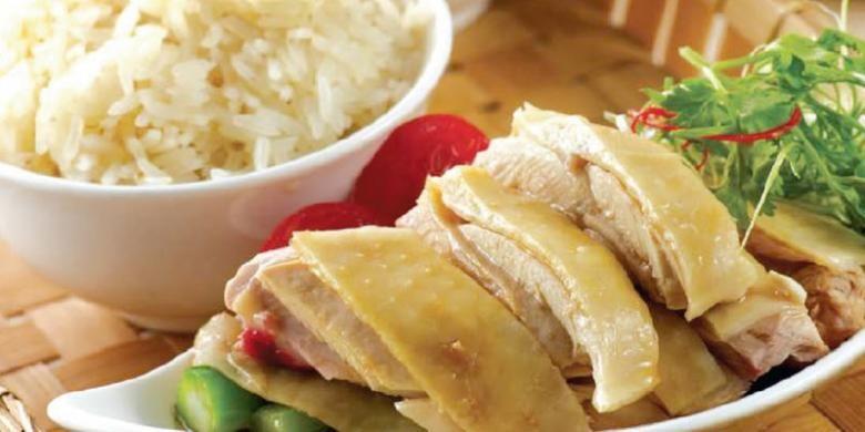 Chicken rice, salah satu makanan khas Singapura hadir di Singapore Food Festival di Hotel Mandarain Jakarta.