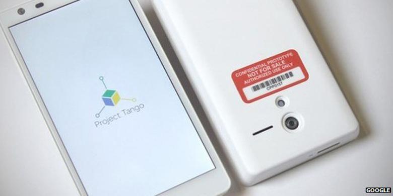 Smartphone Project Tango Google yang mengusung sensor 3D
