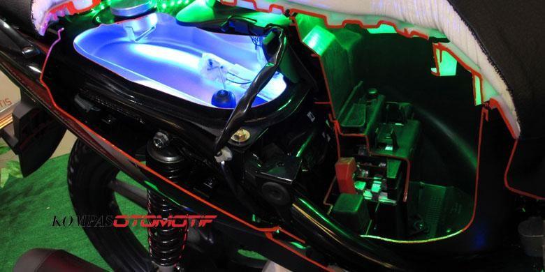 (Ilustrasi) sistem kelistrikan pada sepeda motor.