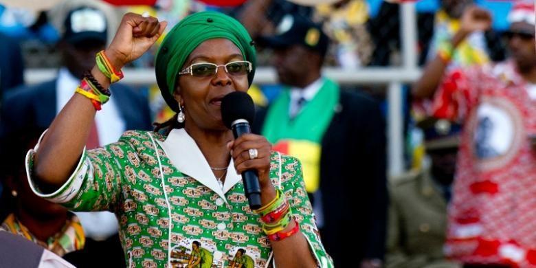 Istri presiden Zimbabwe, Grace Mugabe.